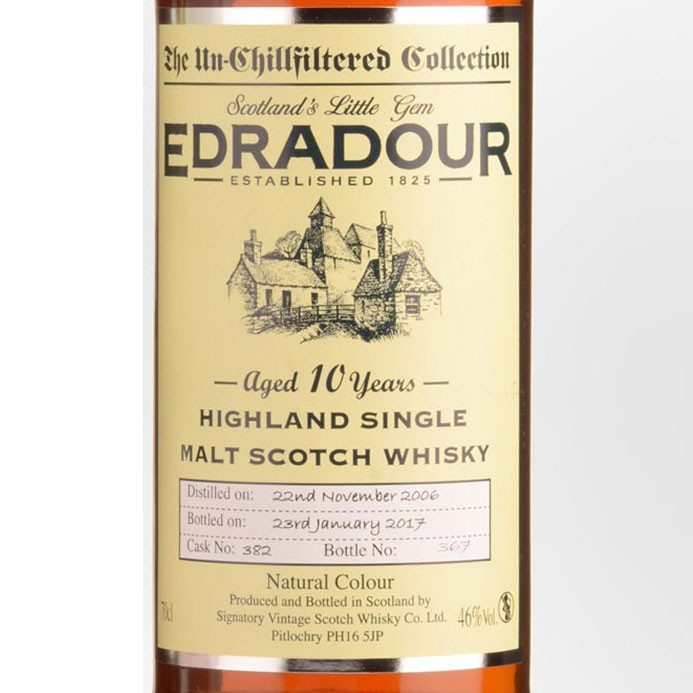 Edradour 10yr Unchilled Filtered (750ML)