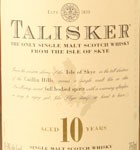 Talisker 10 Year Old Single Malt Scotch (750ML)