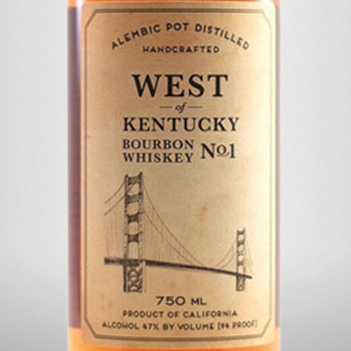 Sonoma County Distilling West of Kentucky Bourbon No. 1 (750ML)