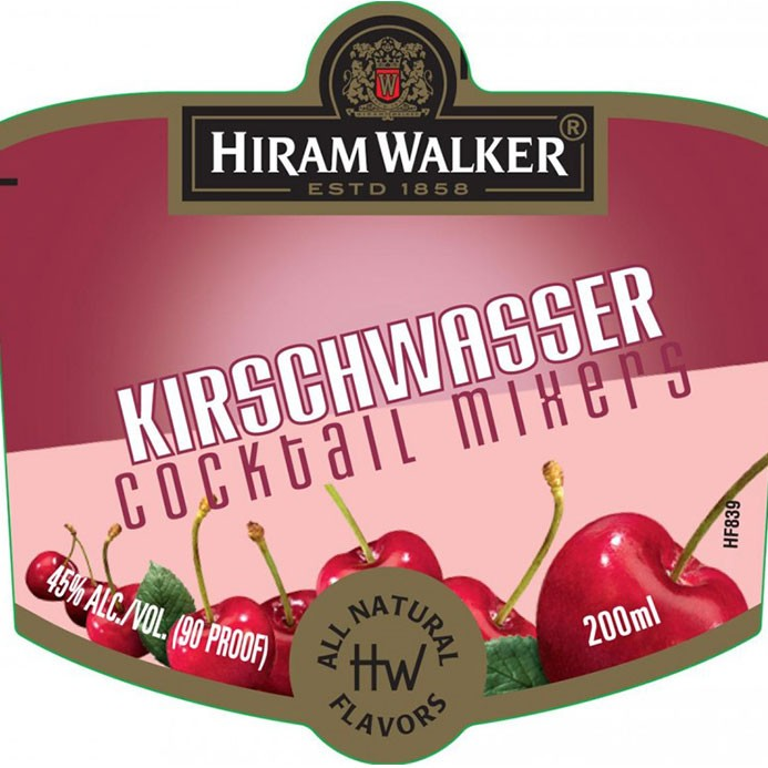 Hiram Walker Kirschwasser Brandy  750ml