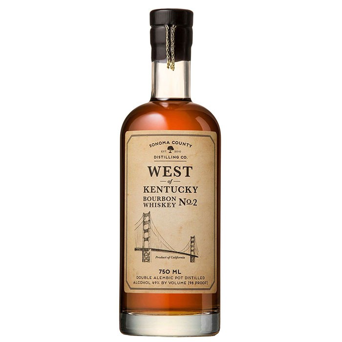 Sonoma County Distilling West of Kentucky Bourbon No. 2 (750ML)