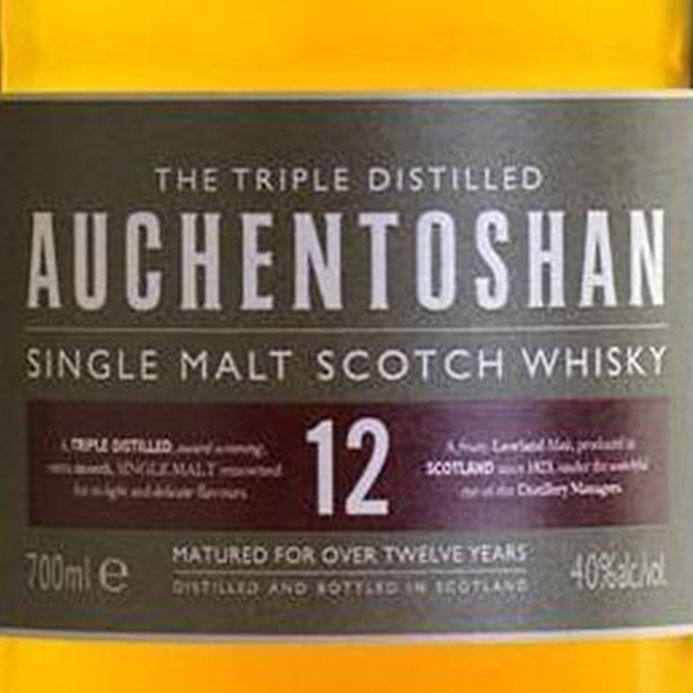 Auchentoshan 12 Year Old Single Malt Scotch (750ML)