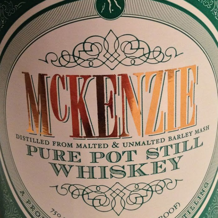 McKenzie Pure Pot Still Whiskey (750ML)