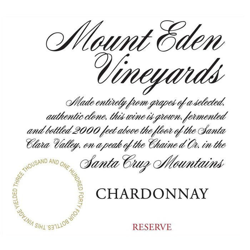 Mount Eden Chardonnay Reserve 2013 (750ML)
