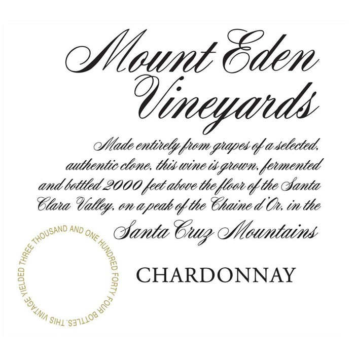 Mount Eden Estate Chardonnay 2015 (750ML)
