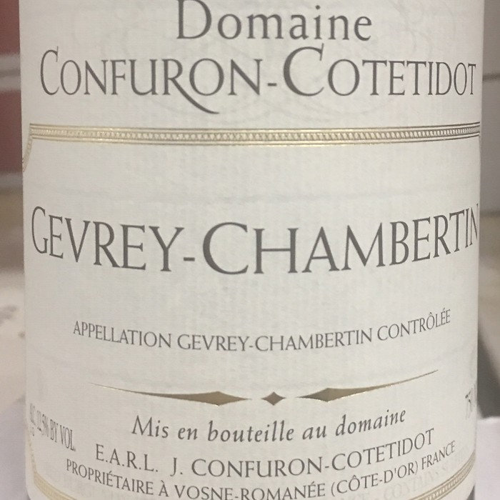Gevrey Chambertin Confuron-Cotetidot 2016 (750ML)