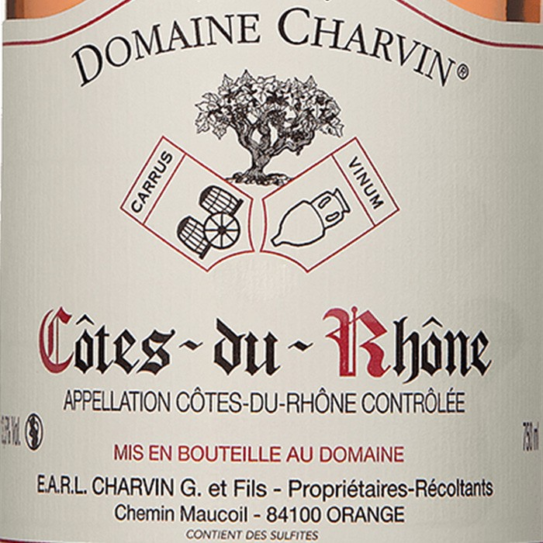 Cotes du Rhone Rose Charvin 2018 (750ML)