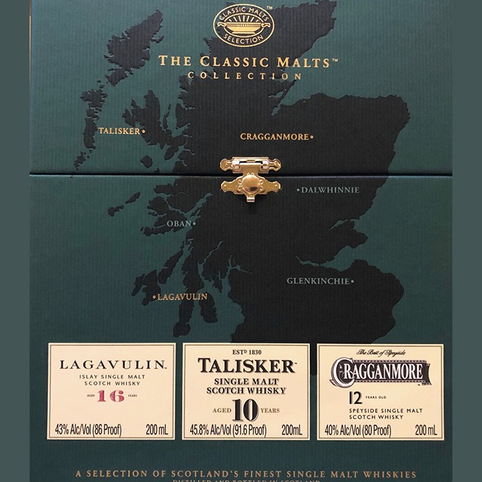The Classic Malts Collection (Lagavulin, Talisker, Cragganmore) (200ML)
