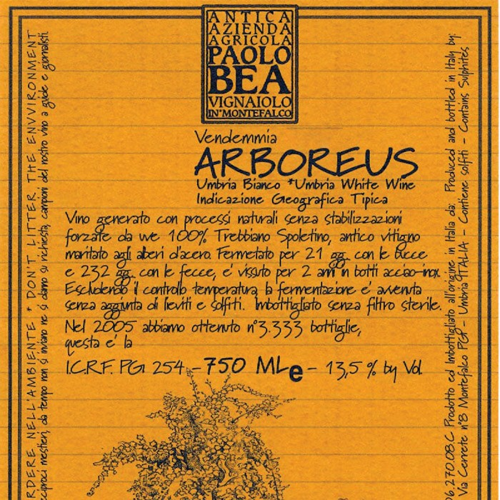 Trebbiano Spoletino Arboreus Paolo Bea 2012 (750ML)