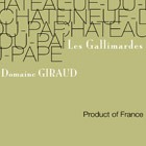 Chateauneuf du Pape Blanc les Gallimardes Domaine Giraud 2018 (750ML)