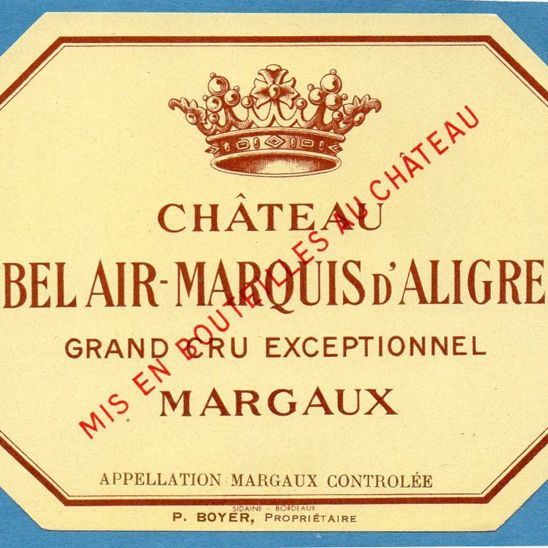 Bel Air Marquis d`Aligre 2009 (750ML)