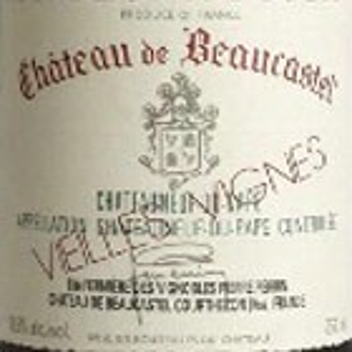 Chateauneuf du Pape Roussanne Vieilles Vignes Chateau Beaucastel 2017 (750ML)