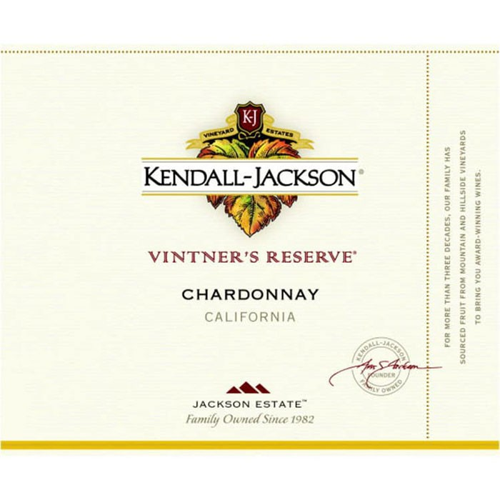 Kendall Jackson Vintners Reserve Chardonnay (750ML)