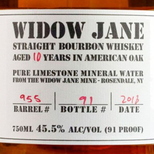 Widow Jane Straight Bourbon Aged 10 Years (750ML)