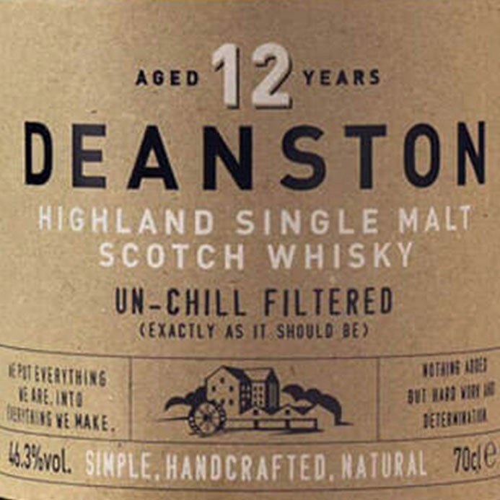 Deanston 12 Year Old Single Malt Scotch (750ML)