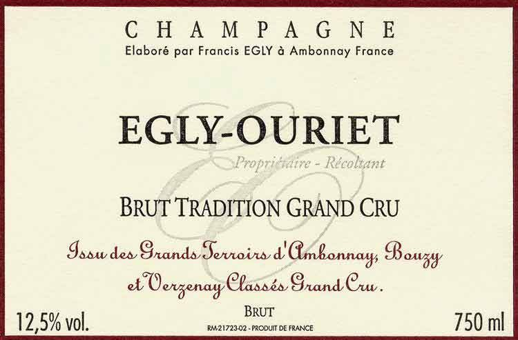 Egly-Ouriet Brut Tradition Grand Cru NV (7/18) (750ML)