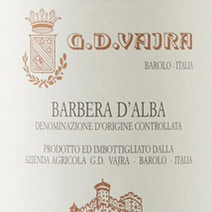 Barbera d Alba G.D. Vajra 2017 (750ML)