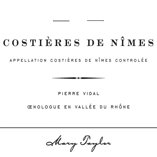 Costieres de Nimes Pierre Vidal Mary Taylor 2017 (750ML)
