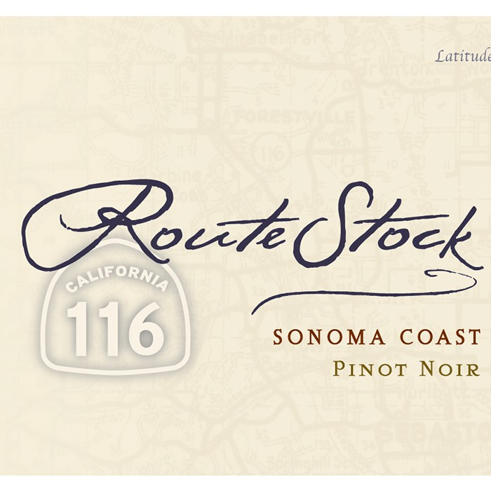 RouteStock Route 116 Sonoma Coast Pinot Noir 2018 (750ML)