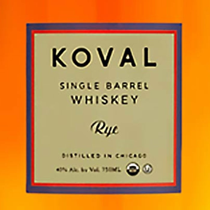 Koval Rye Whiskey Single Barrel (750ml)