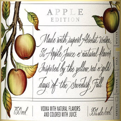 Absolut Vodka Apple Juice Edition (1L)