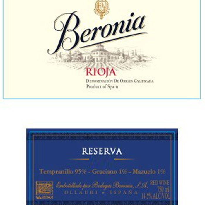 Beronia Rioja Reserva 2015 (750ML)