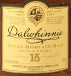 Dalwhinnie 15 Year Old Scotch  Single Malt (750ml)