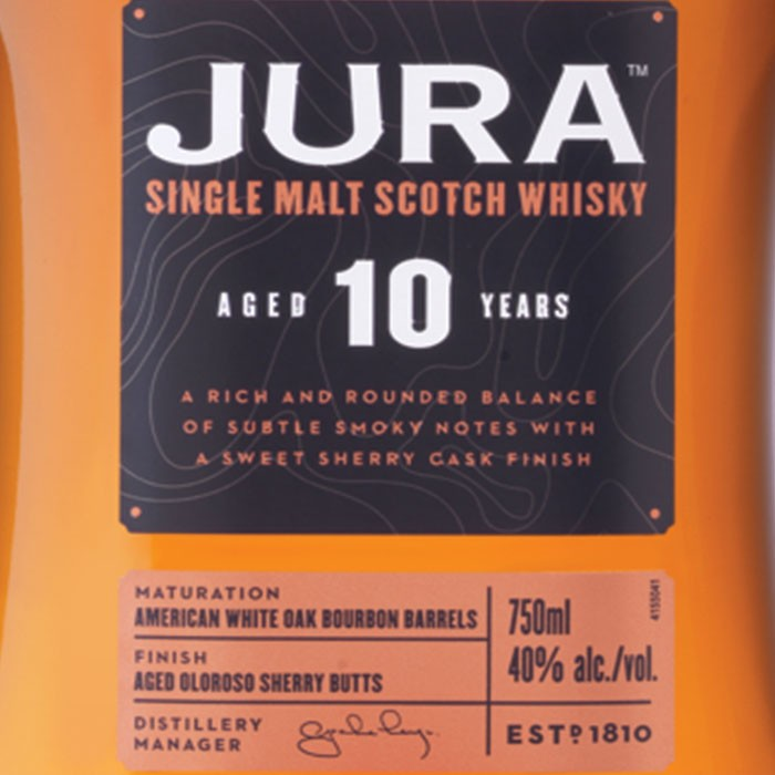 Isle of Jura 10 Year Old Single Malt Scotch (750ML)