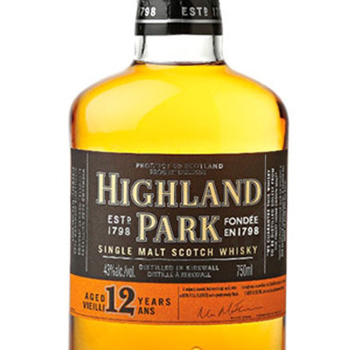 Highland Park 12 Year Old Single Malt Scotch (750ML)