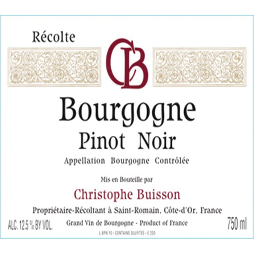 Bourgogne Rouge Christopher Buisson 2015 (750ML)