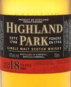Highland Park 18 Year Scotch (750ml)