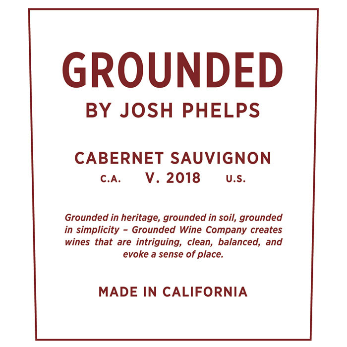 Grounded Wine Co. Josh Phelps Cabernet Sauvignon 2018 (750ML)