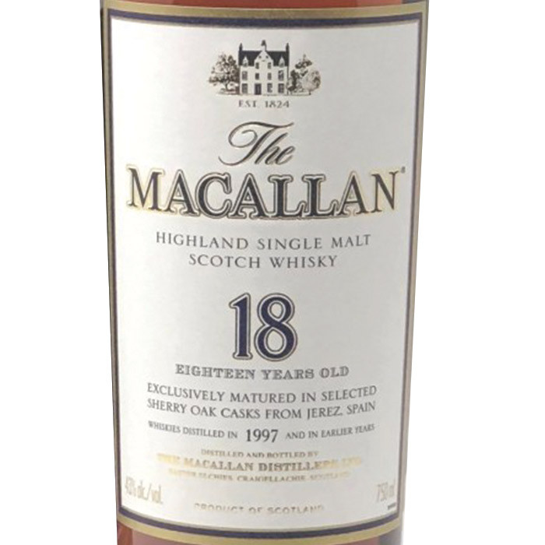 Macallan 18 Year Old Single Malt Scotch (750ml)