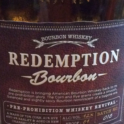 Redemption Bourbon (750ML) image #1