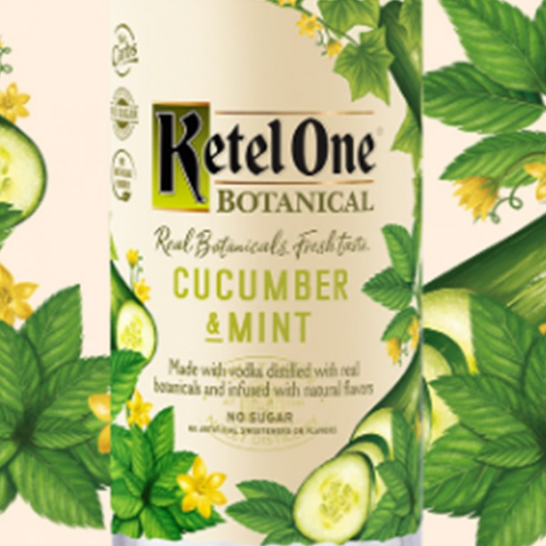 Ketel One Botanical Cucumber & Mint Vodka (1L) image #1