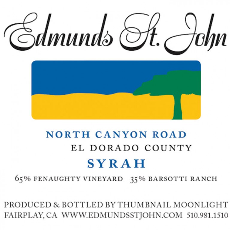 Edmunds St. John Syrah 'North Canyon Road' 2015 (750ML) image #1